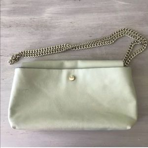Zara Trafaluc Clutch Gold Chain Shoulder Strap